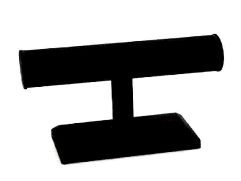 Velvet Bracelet T-Bar, Black