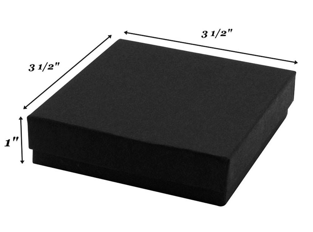 Matte Black Cotton Filled Box