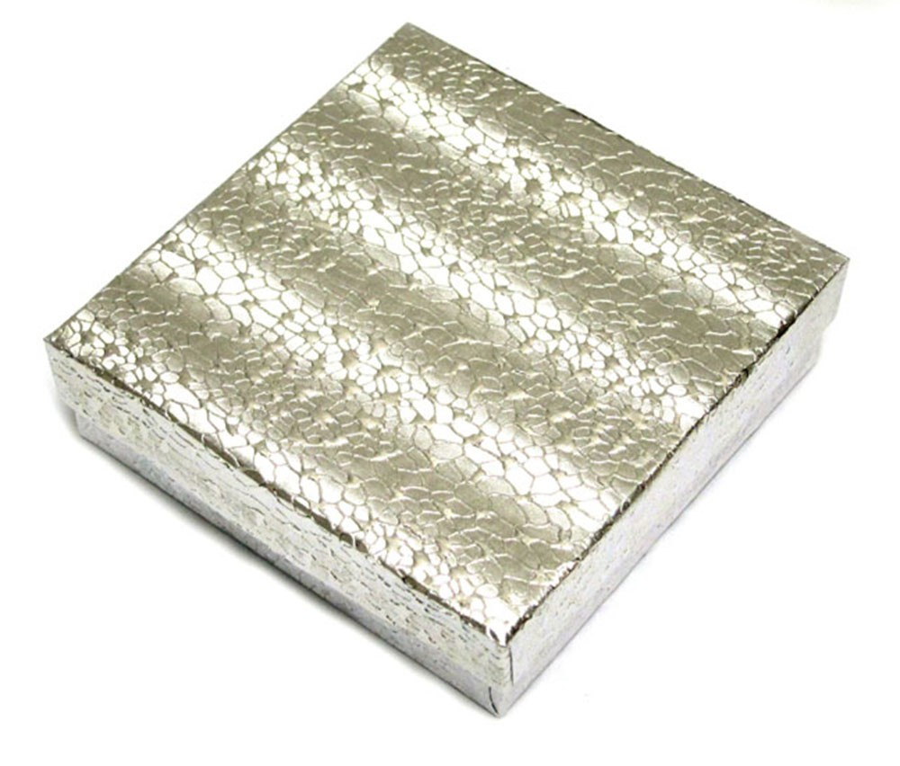Silver Cotton Filled Box