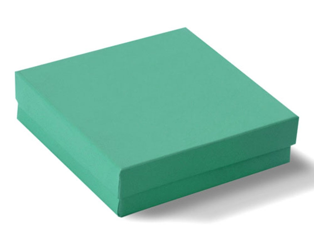Teal Blue Cotton Filled Box