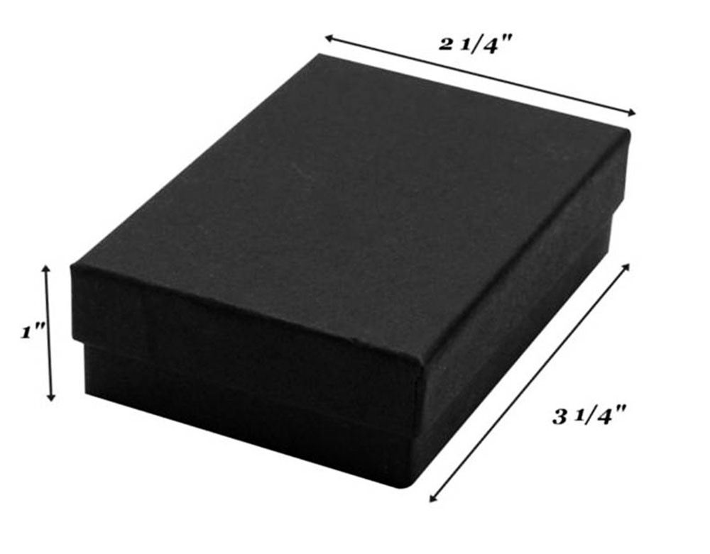 Matte Black Cotton Filled Boxes