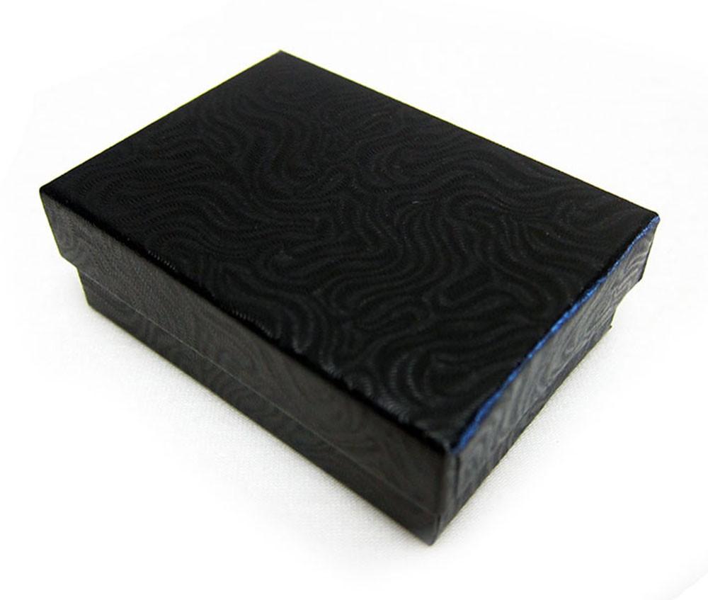 Black Swirl Cotton Filled Boxes