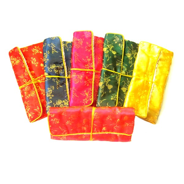 Assorted Chinese Silk Pouch Roll