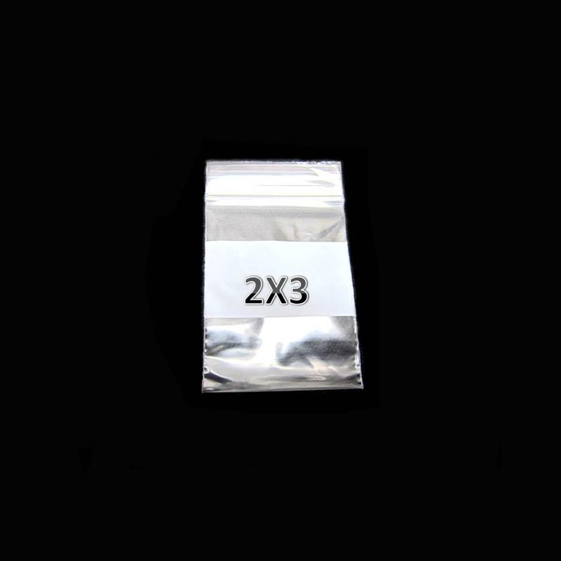 Plastic ZipLock Bag 2x3 W/WHT