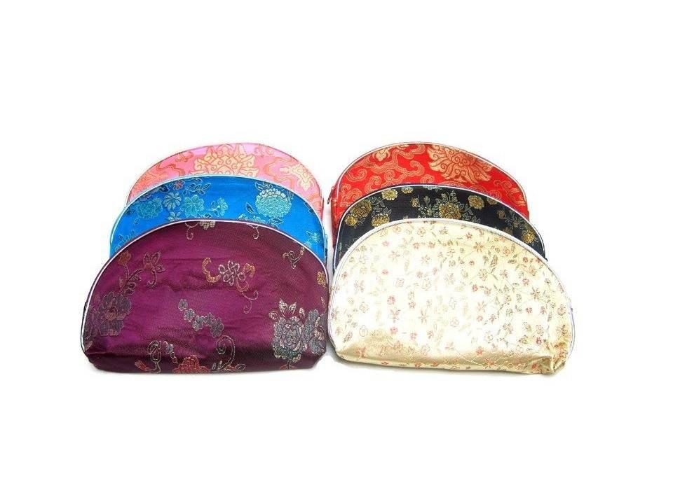 Chinese Silk Zipper Pouches