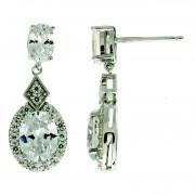 Silver  CZ Earring