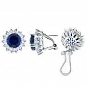 Silver Earring With Color Stone