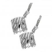 Silver CZ Dangling Earring