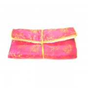 Chinese Silk Pouch Roll, Pink