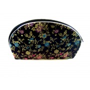 Chinese Silk Zipper Pouches/Black