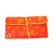 Chinese Silk Pouch Roll, Red